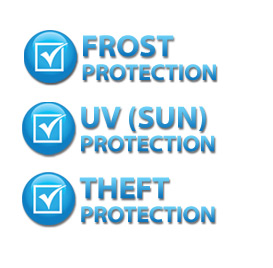FROST Protection :: UV (Sun) Protection :: THEFT Protection